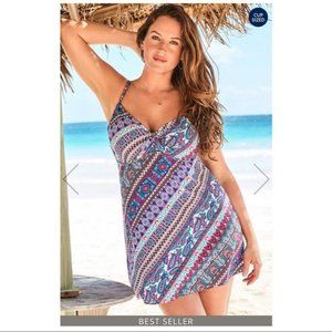 Swimsuits For All REVERIE UNDERWIRE SWIMDRESS 8 DD